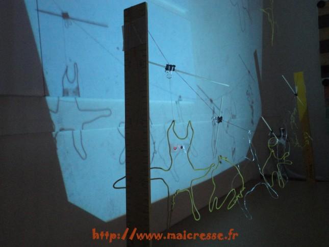 fil de fer et rétroprojecteur
