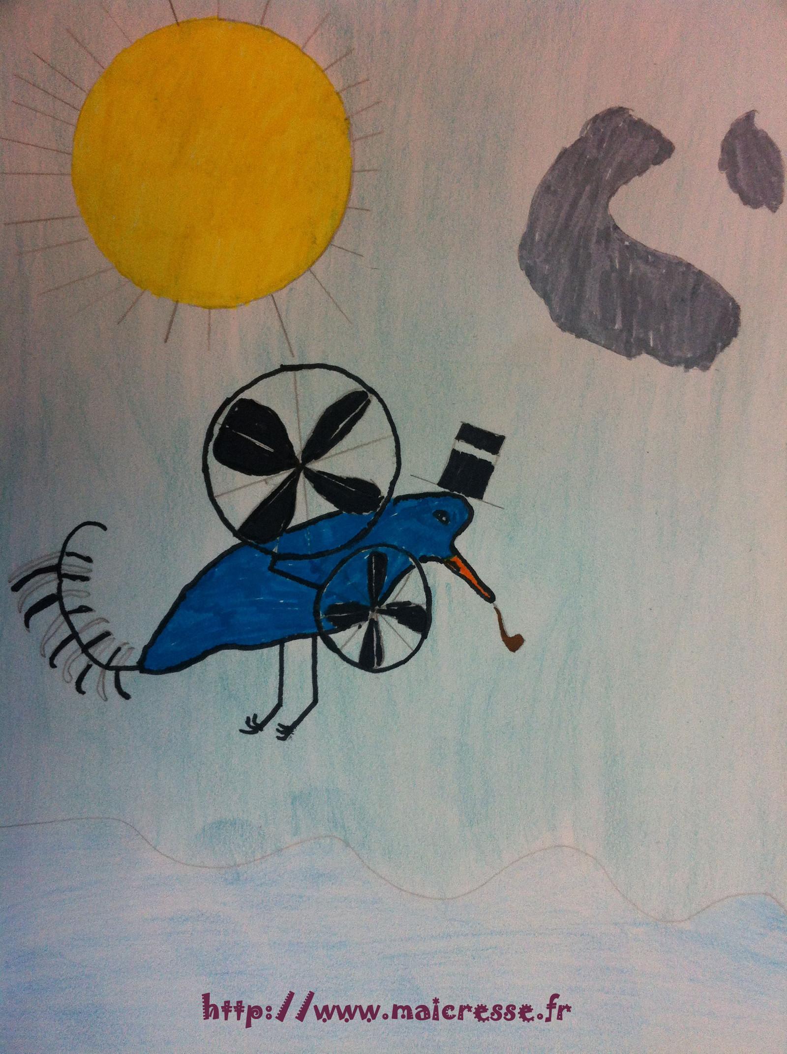 Magritte CM2 oiseau