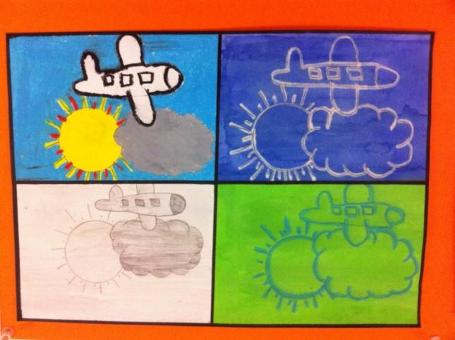 technique art visuel cycle 3 avion