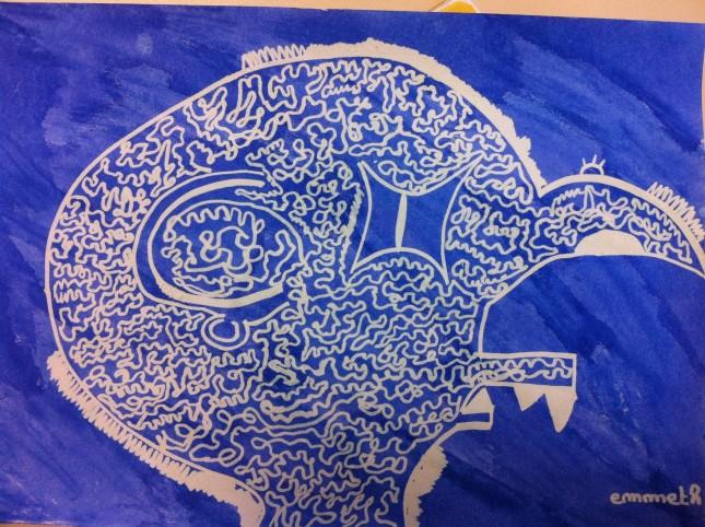 technique art visuel cycle 3 halloween