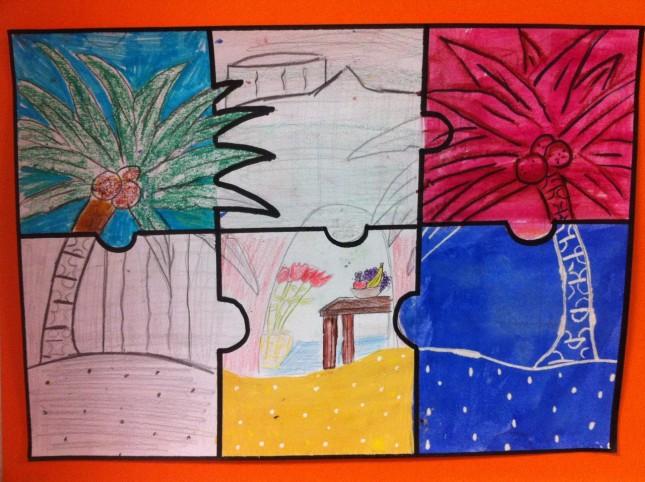 technique art visuel cycle 3 palmier