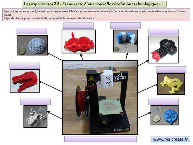 projet autour de la prochaine Révolution Industrielle _ l'impression 3D