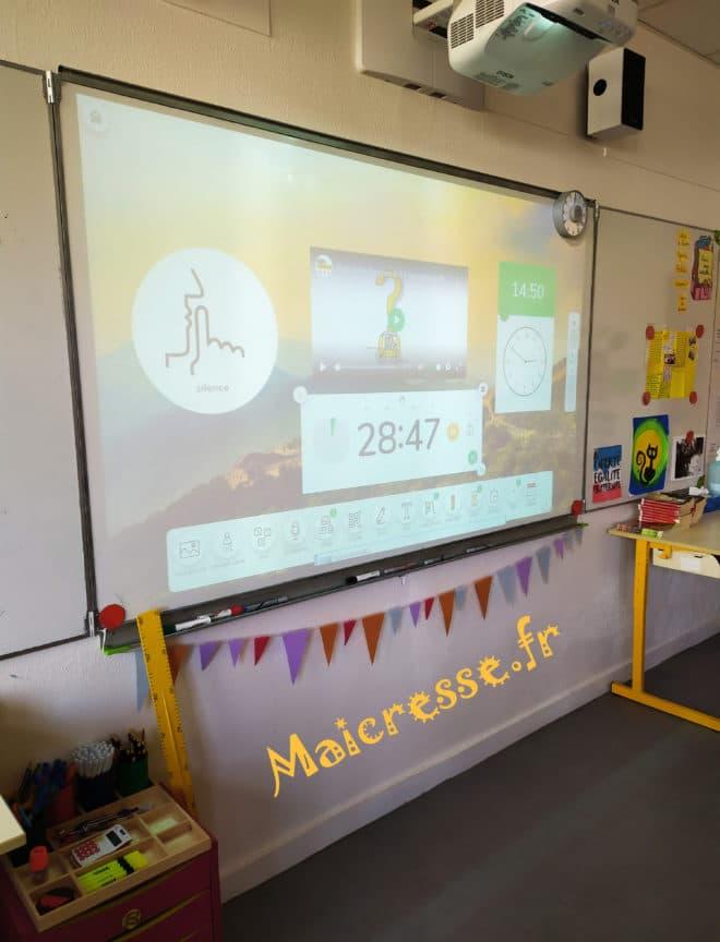 exemple tuto test Classroomscreen fond d ecran intelligent